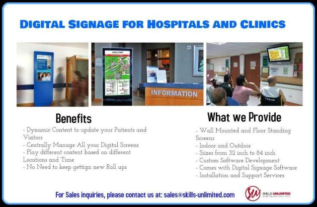 WHY Digital Signage is becoming a necessity in Healthcare and How to go about adopting and implementing it.
